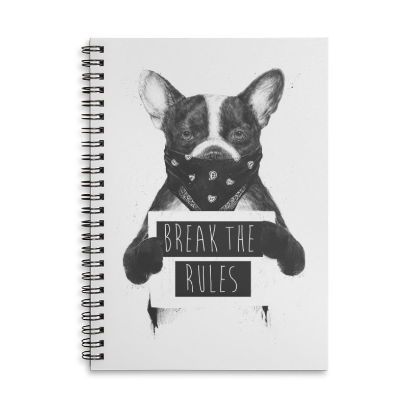Rebel dog Accessories Lined Spiral Notebook by Balazs Solti