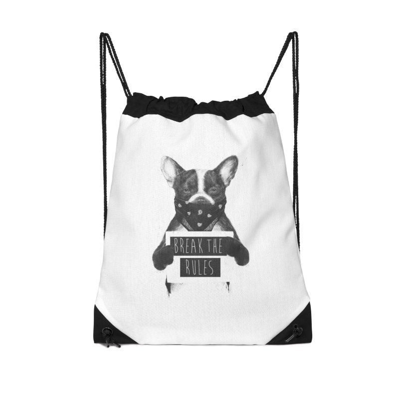Rebel dog Accessories Drawstring Bag Bag by Balazs Solti