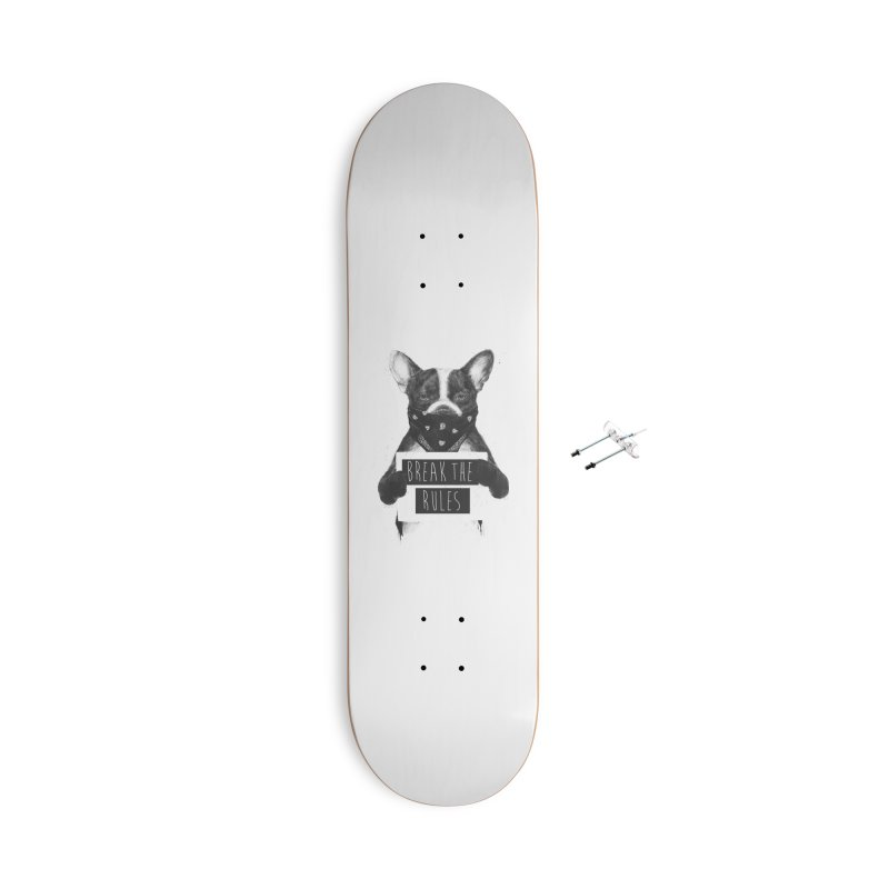 Rebel dog Accessories With Hanging Hardware Skateboard by Balazs Solti