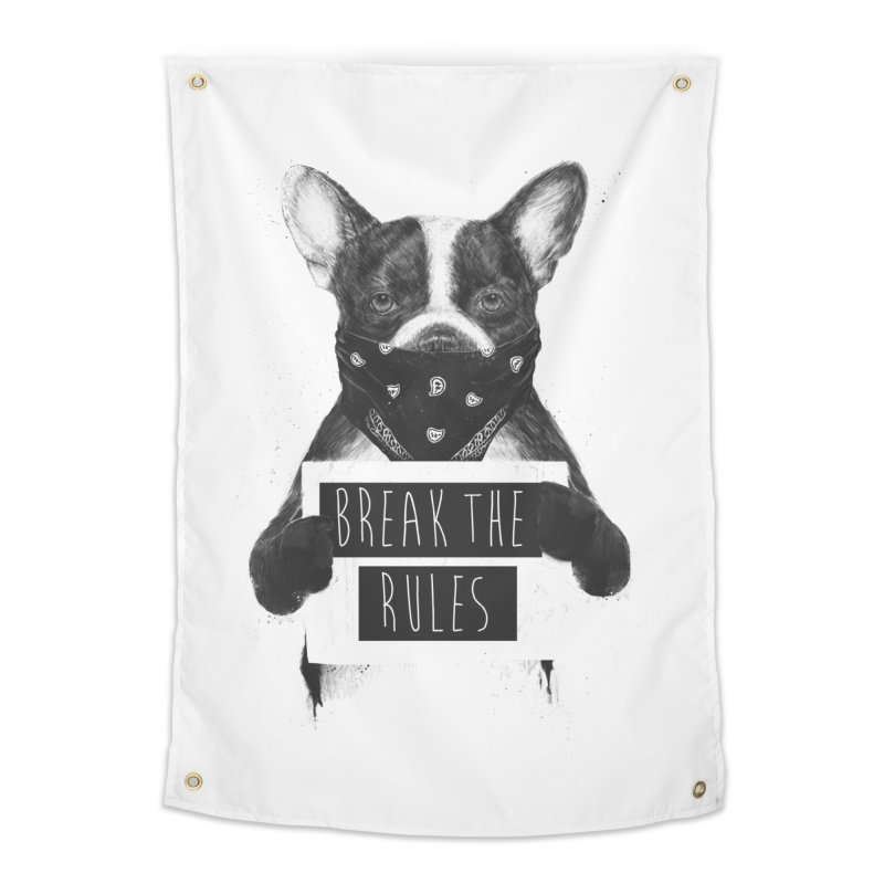 Rebel dog Home Tapestry by Balazs Solti
