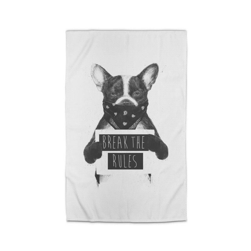 Rebel dog Home Rug by Balazs Solti