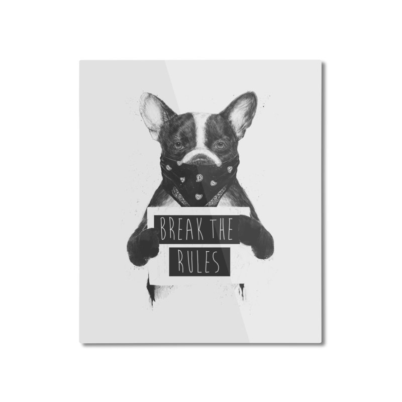 Rebel dog Home Mounted Aluminum Print by Balazs Solti