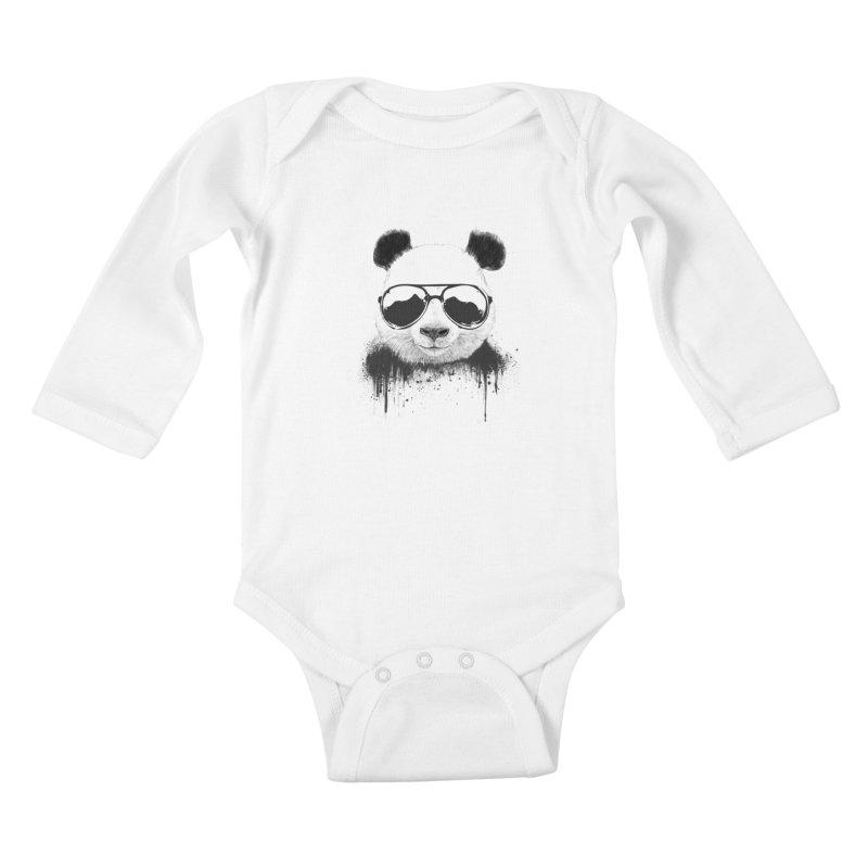 Stay cool Kids Baby Longsleeve Bodysuit by Balazs Solti