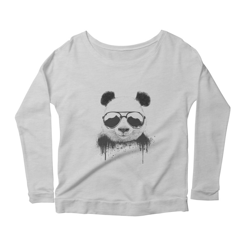 Stay cool Women's Scoop Neck Longsleeve T-Shirt by Balazs Solti
