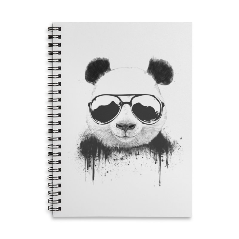 Stay cool Accessories Lined Spiral Notebook by Balazs Solti