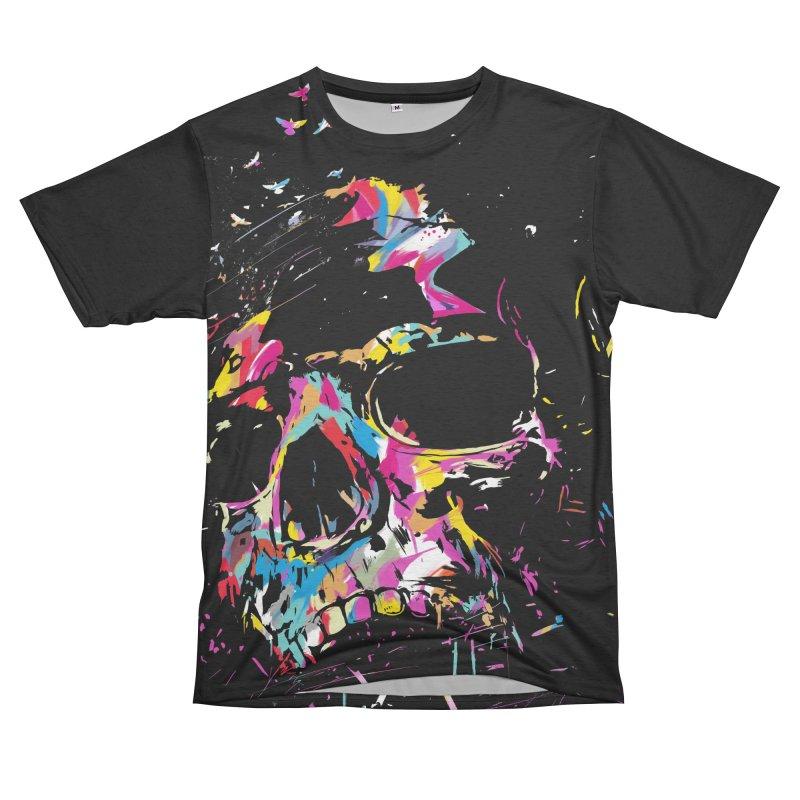 Skull X Women's Unisex French Terry T-Shirt Cut & Sew by Balazs Solti