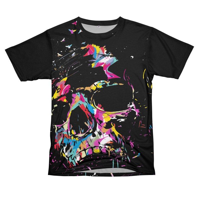 Skull X Women's Unisex T-Shirt Cut & Sew by Balazs Solti