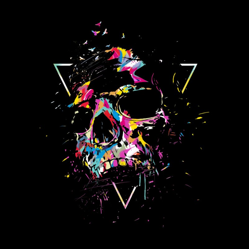 Skull X Men's T-Shirt by Balazs Solti