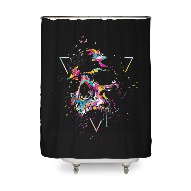 Skull X Home Shower Curtain by Balazs Solti