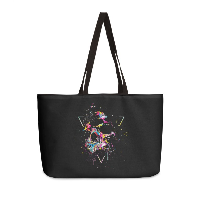 Skull X Accessories Weekender Bag Bag by Balazs Solti