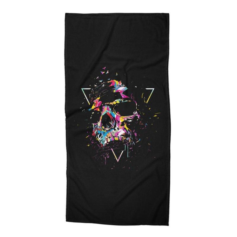 Skull X Accessories Beach Towel by Balazs Solti