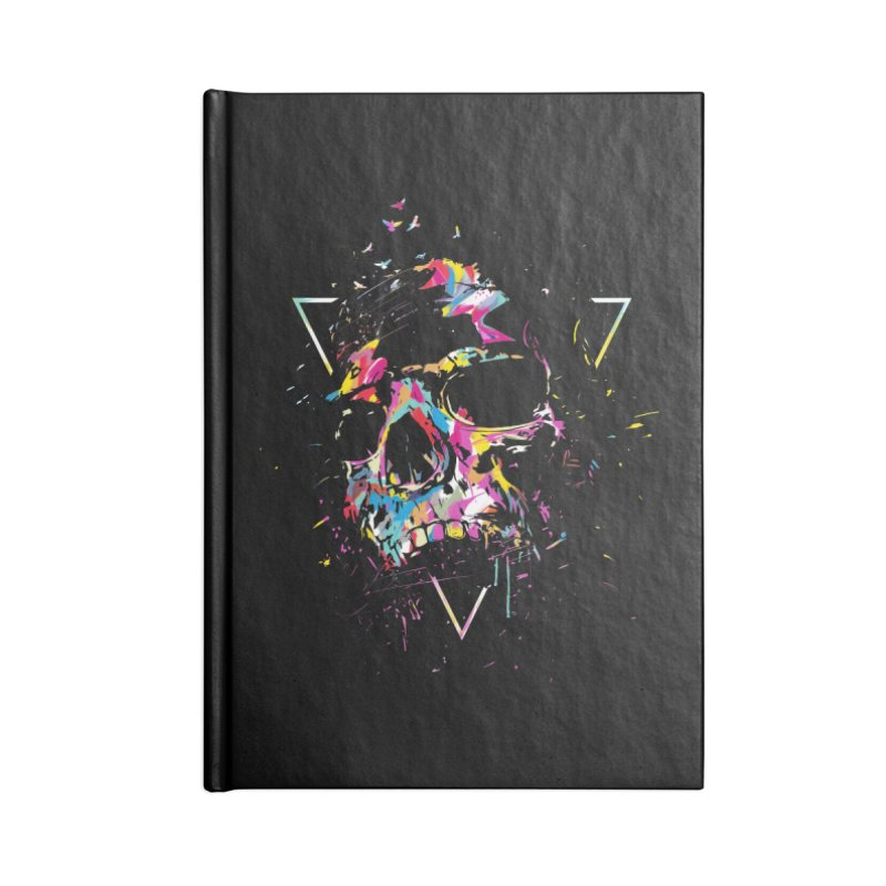 Skull X Accessories Lined Journal Notebook by Balazs Solti