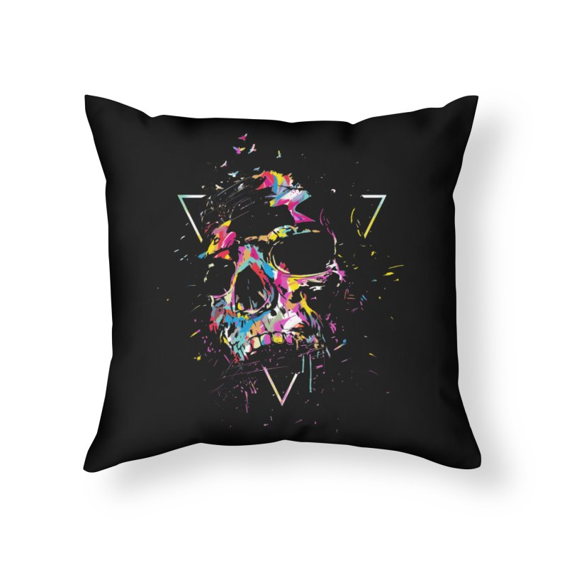 Skull X Home Throw Pillow by Balazs Solti