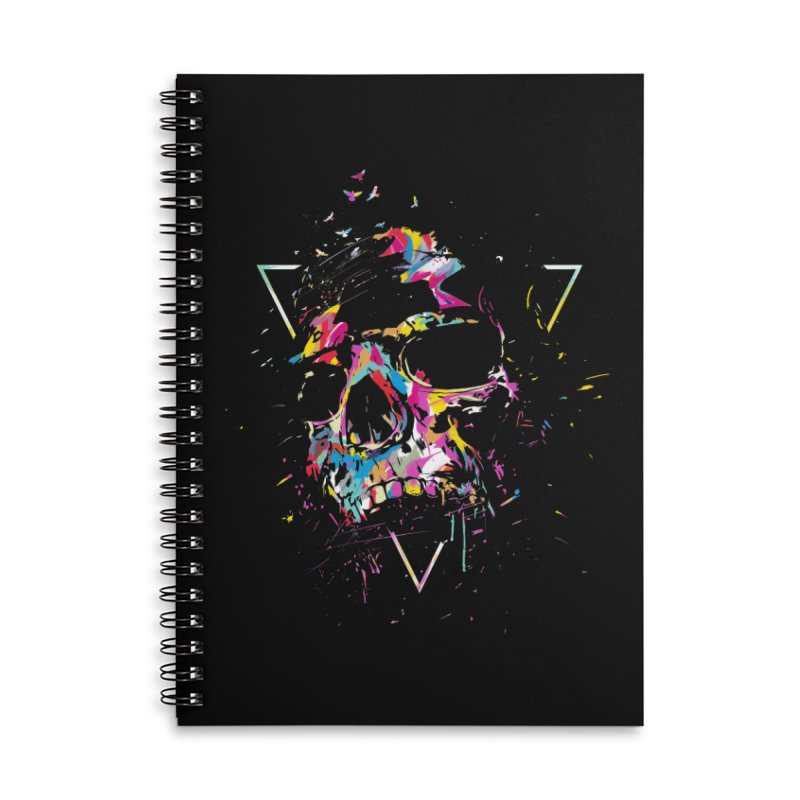 Skull X Accessories Lined Spiral Notebook by Balazs Solti