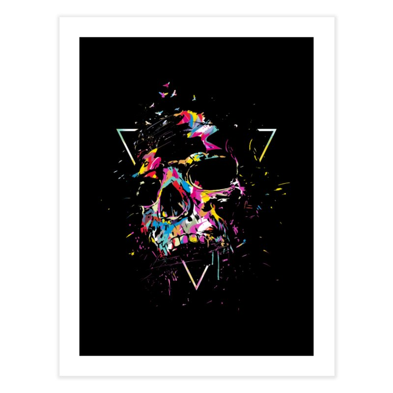 Skull X Home Fine Art Print by Balazs Solti
