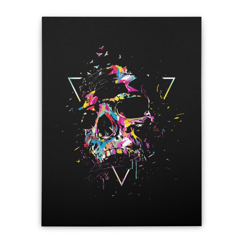 Skull X Home Stretched Canvas by Balazs Solti