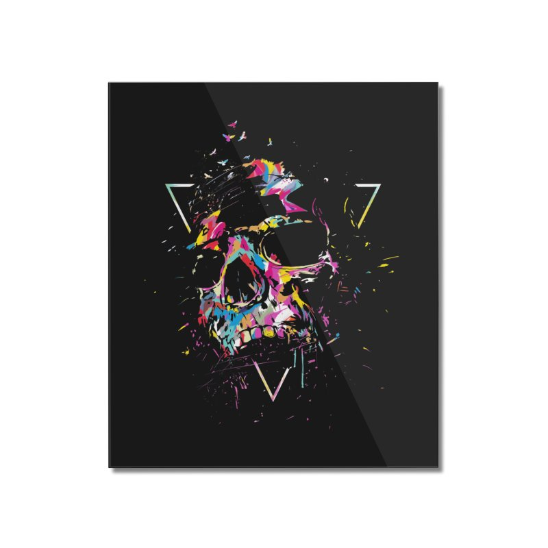 Skull X Home Mounted Acrylic Print by Balazs Solti