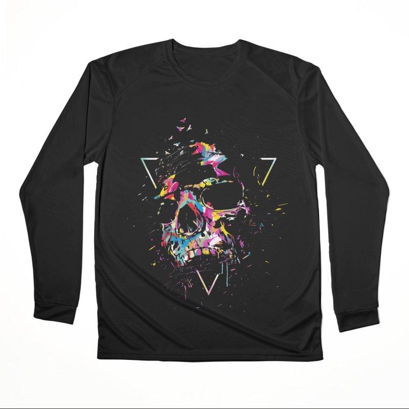 Skull X Men's Performance Longsleeve T-Shirt by Balazs Solti