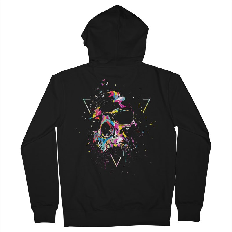 Skull X Women's French Terry Zip-Up Hoody by Balazs Solti