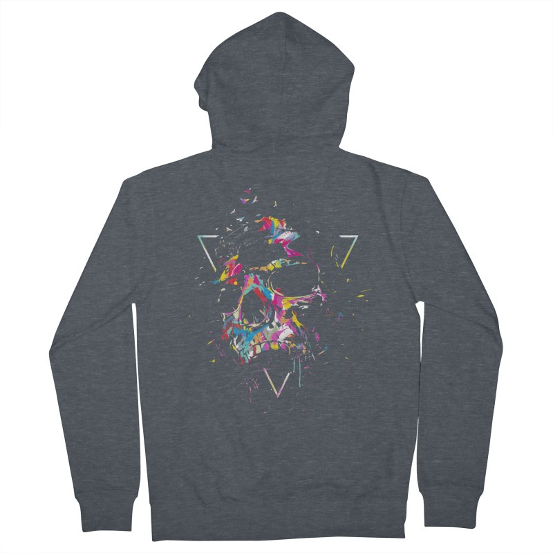Skull X Men's French Terry Zip-Up Hoody by Balazs Solti
