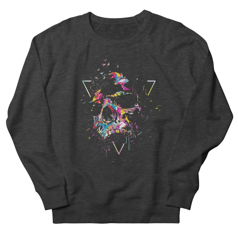 Skull X Men's French Terry Sweatshirt by Balazs Solti