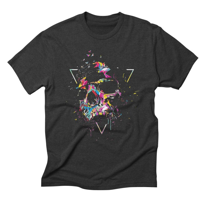 Skull X Men's Triblend T-Shirt by Balazs Solti
