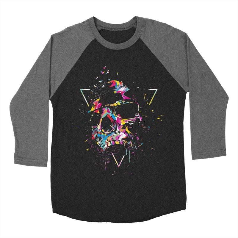 Skull X Women's Baseball Triblend Longsleeve T-Shirt by Balazs Solti