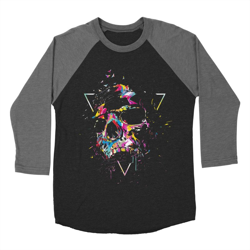 Skull X Men's Baseball Triblend Longsleeve T-Shirt by Balazs Solti
