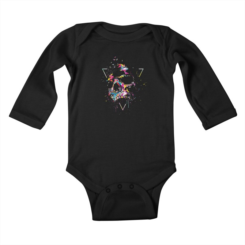 Skull X Kids Baby Longsleeve Bodysuit by Balazs Solti