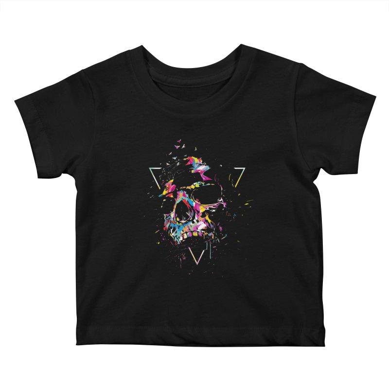 Skull X Kids Baby T-Shirt by Balazs Solti