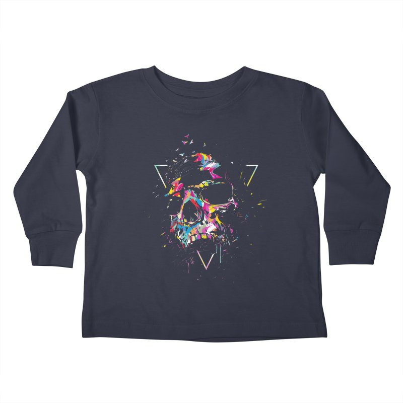 Skull X Kids Toddler Longsleeve T-Shirt by Balazs Solti