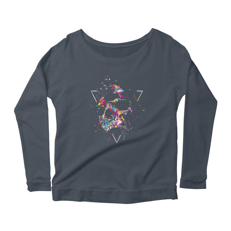 Skull X Women's Scoop Neck Longsleeve T-Shirt by Balazs Solti