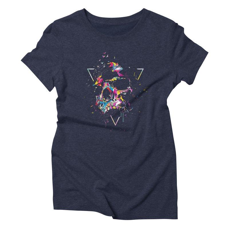 Skull X Women's Triblend T-Shirt by Balazs Solti