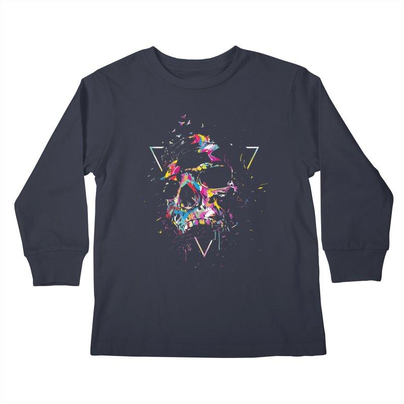 Skull X Kids Longsleeve T-Shirt by Balazs Solti