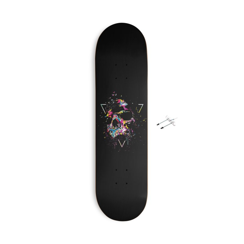 Skull X Accessories With Hanging Hardware Skateboard by Balazs Solti
