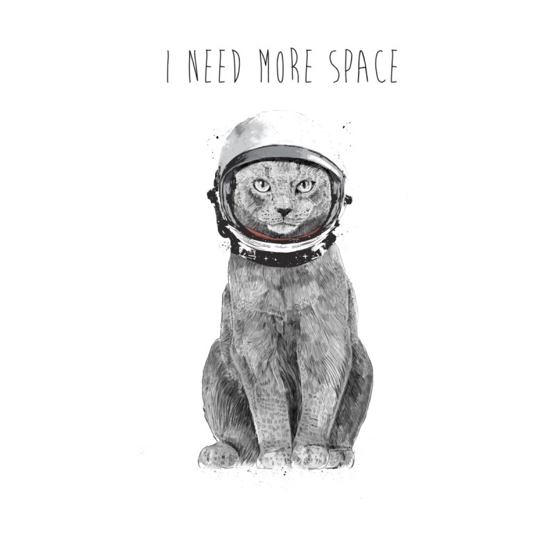 I need more space Men's T-Shirt by Balazs Solti