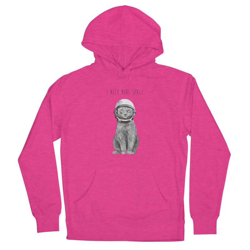 I need more space Women's French Terry Pullover Hoody by Balazs Solti
