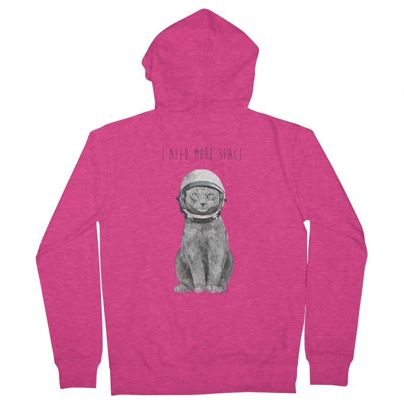 I need more space Women's French Terry Zip-Up Hoody by Balazs Solti