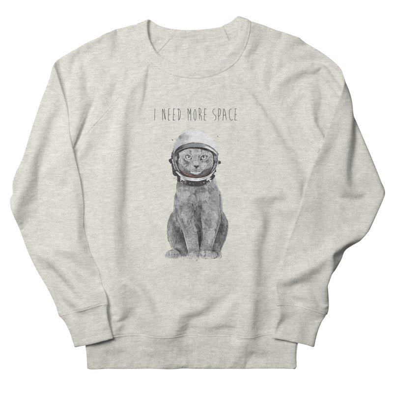 I need more space Men's French Terry Sweatshirt by Balazs Solti
