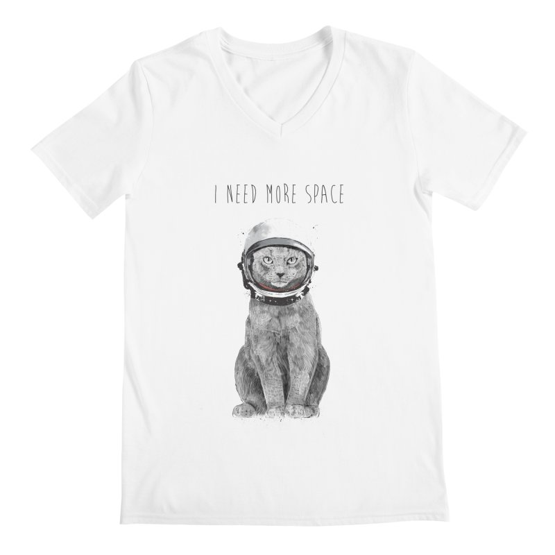 I need more space Men's Regular V-Neck by Balazs Solti