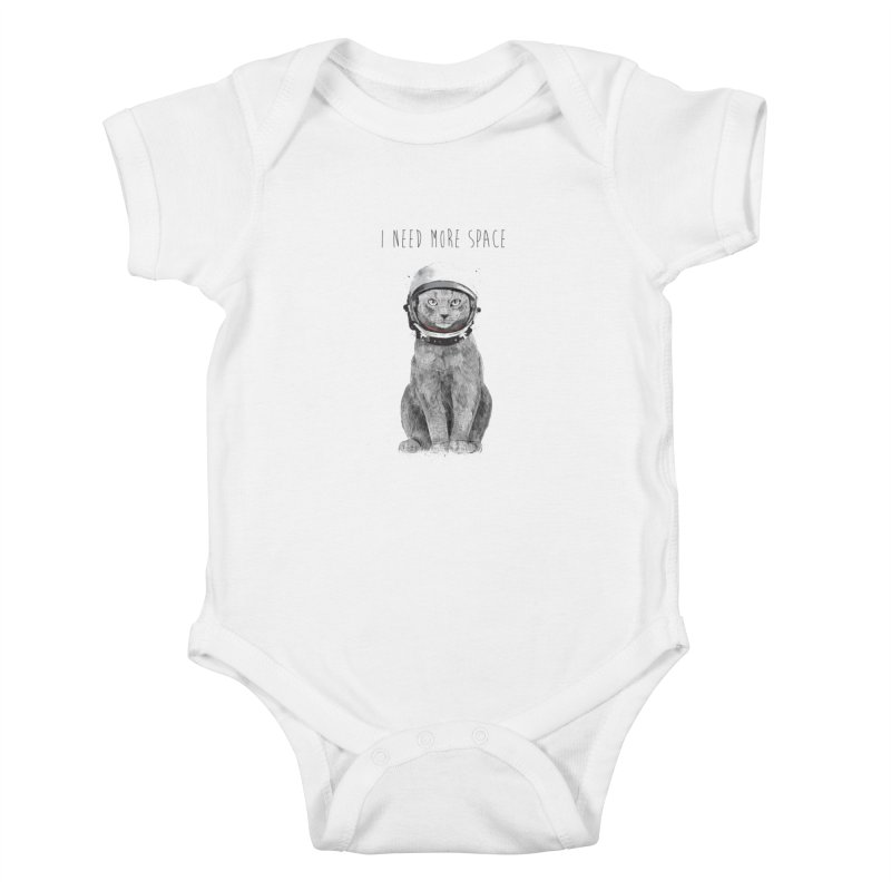 I need more space Kids Baby Bodysuit by Balazs Solti