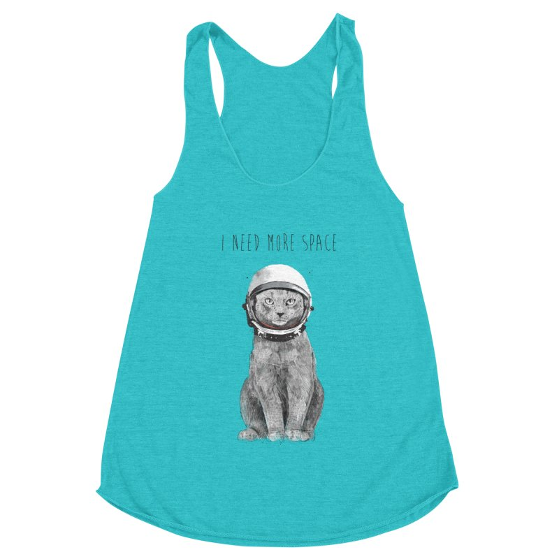 I need more space Women's Racerback Triblend Tank by Balazs Solti