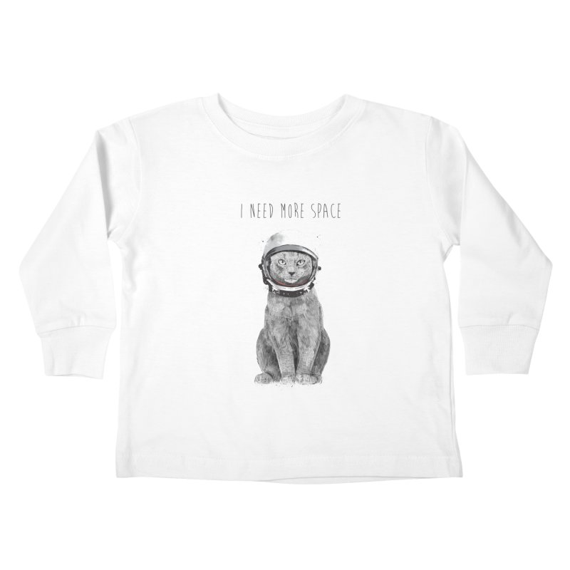I need more space Kids Toddler Longsleeve T-Shirt by Balazs Solti