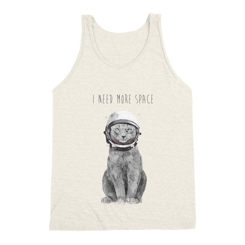 I need more space Men's Triblend Tank by Balazs Solti
