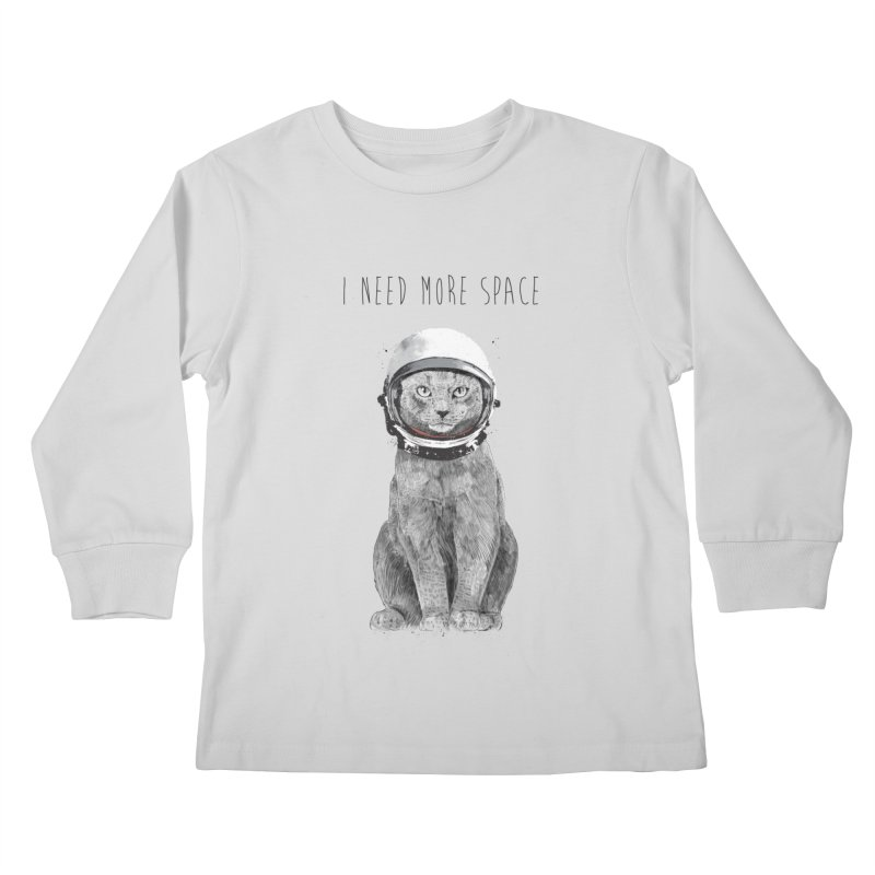 I need more space Kids Longsleeve T-Shirt by Balazs Solti