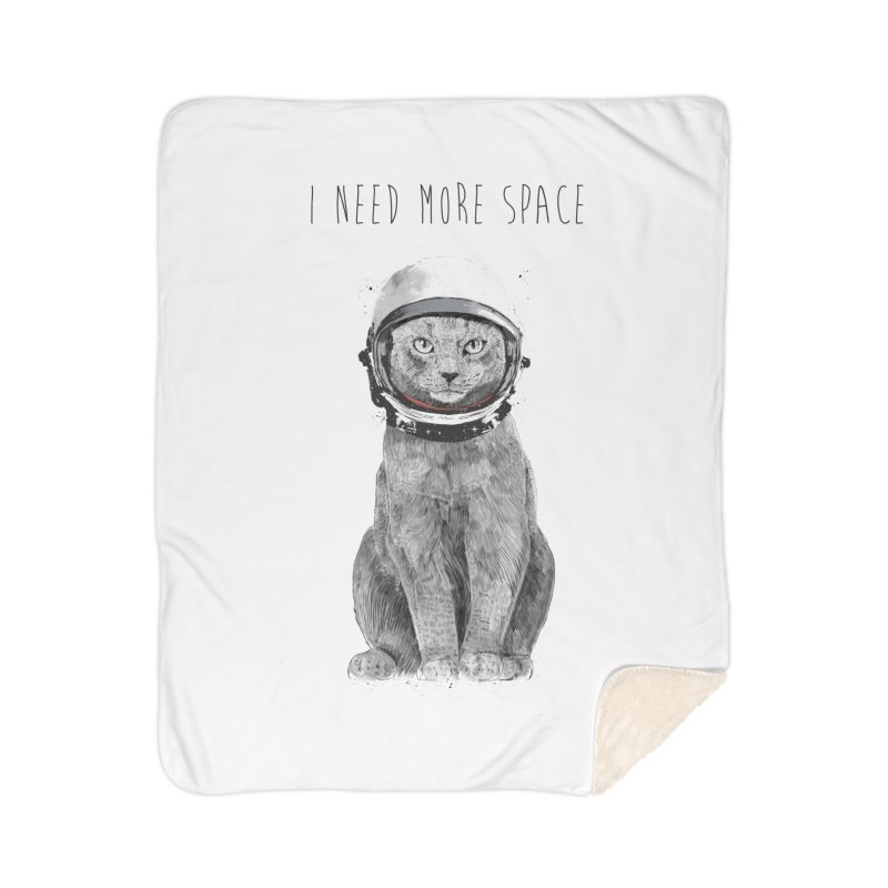 I need more space Home Sherpa Blanket Blanket by Balazs Solti