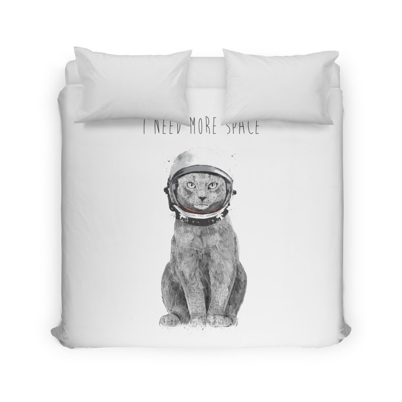 I need more space Home Duvet by Balazs Solti