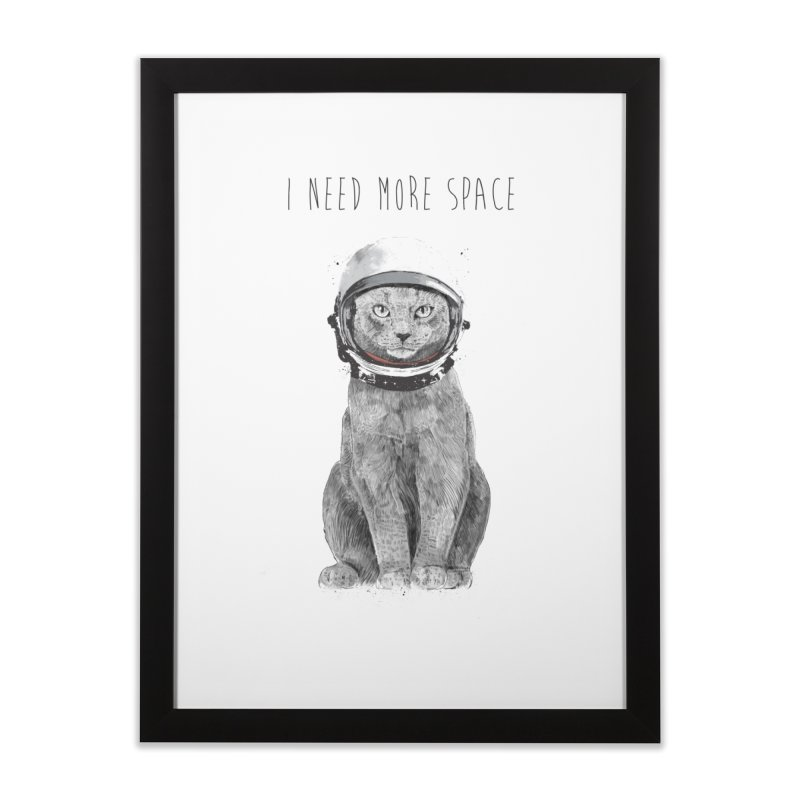I need more space Home Framed Fine Art Print by Balazs Solti
