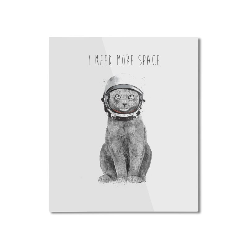 I need more space Home Mounted Aluminum Print by Balazs Solti