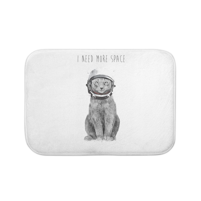 I need more space Home Bath Mat by Balazs Solti